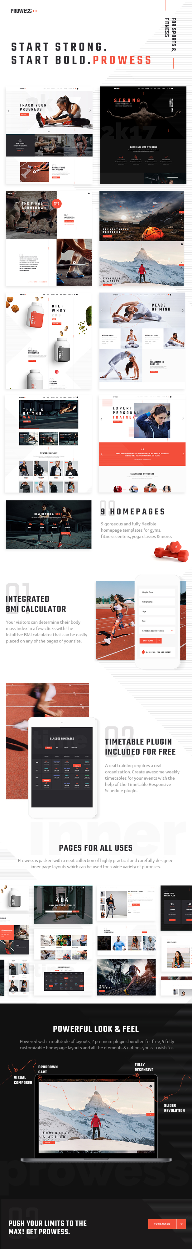 WordPress theme Prowess - A Fitness and Gym WordPress Theme (Health & Beauty)